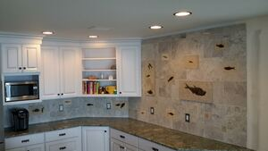 Green River Fish Backsplash - Customer Photo