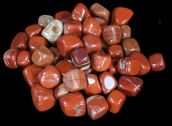 Bulk Polished Red Jasper - 8oz. (~ 10pc.) - Photo 1