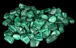 "1 to 1 1/2"" Tumbled Malachite - Single Piece"