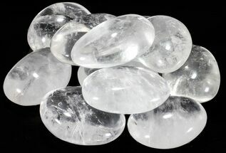 "Bulk Polished Clear Quartz ""Pebbles"" - 3 Pack"