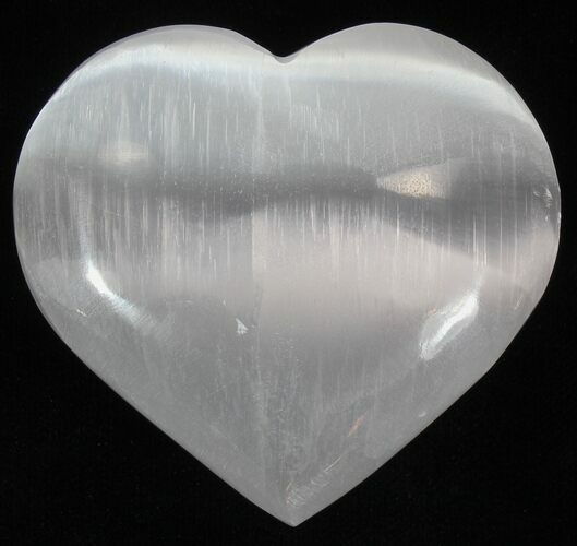 "Wholesale Box: 2-1/4"" Selenite Hearts - 100 Pieces - Photo 1"
