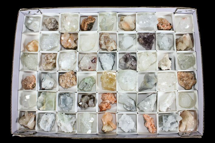Mixed Indian Mineral & Crystal Flats - 54 Pieces (Reduced Price) - Photo 1
