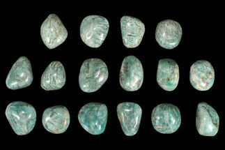 "2"" Polished Graphic Amazonite Palm Stones - 1 KG Bag"