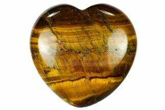 "1.6"" Polished Tiger's Eye Heart"