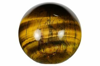 "Small, .9"" Polished Tiger's Eye Sphere"