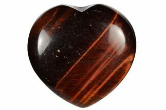 "1.6"" Polished Red Tiger's Eye Heart"