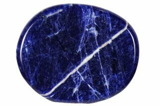 "2"" Polished Sodalite Flat Pocket Stone"