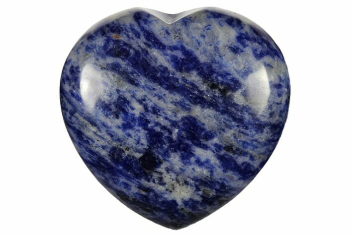 "1.6"" Polished Sodalite Heart - Photo 1"
