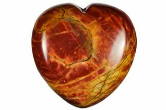 "1.6"" Polished Cherry Creek Jasper Heart"