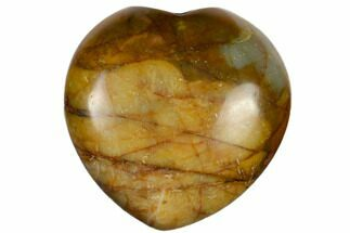 "1.4"" Polished Cherry Creek Jasper Heart"