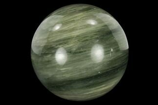 "1.2"" Polished Green Hair Jasper Sphere"