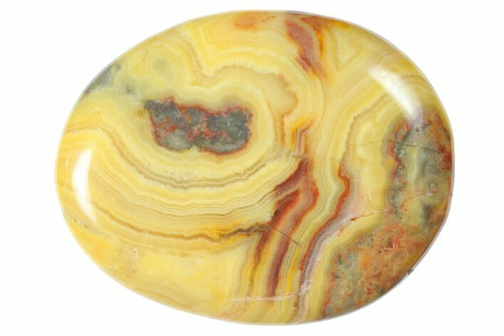 Polished Crazy Lace Agate Flat Pocket Stone  - Photo 1