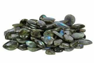 Wholesale Lot: Polished Labradorite Pendants - 100 Pieces