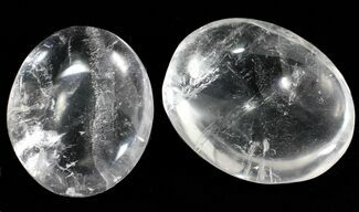 "2"" Polished Clear Quartz Stones"