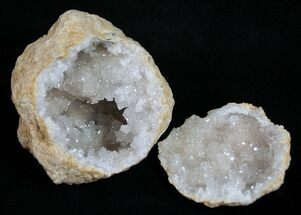"2"" Quartz Geodes From Morocco - 3 Pack"