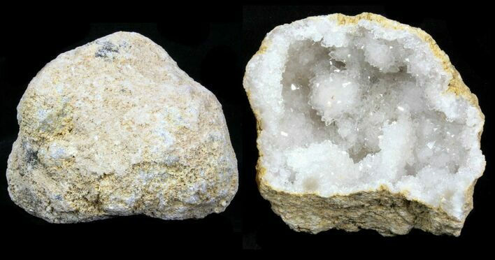 "3-4"" Unopened Quartz Geode From Morocco - 10 Pack - Photo 1"