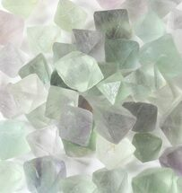 Bulk Green Fluorite Octahedral Crystals - 10 Pack