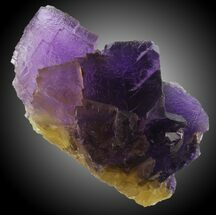 "Buy 6.8"" Cubic Purple/Yellow Fluorite - Cave-in-Rock, Illinois - #31357"