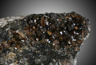 "3.26"" Spessartine Garnet & Smoky Quartz Cluster - China For Sale, #32582"