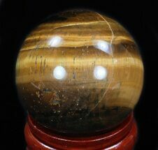 "Top Quality 2.35"" Polished Tiger's Eye Sphere For Sale, #33635"