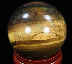 "Top Quality 2.45"" Polished Tiger's Eye Sphere For Sale, #33638"