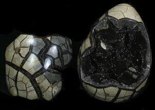 "8.8"" Septarian ""Dragon Egg"" Geode With Removable Section For Sale, #33725"