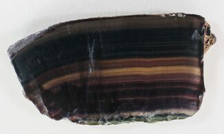 "4.9"" Polished Fluorite Slab - Purple For Sale, #34859"