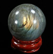 "Buy 1.4"" Flashy Labradorite Sphere - Great Color Play - #37675"