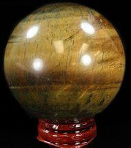 "2.3"" Polished Tigers Eye Sphere For Sale, #37685"