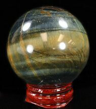 "1.9"" Polished Tiger's Eye Sphere - Cyber Monday Deal! For Sale, #37694"