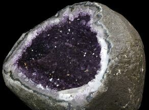"10.6"" Amethyst Crystal Geode with Calcite Crystal For Sale, #37727"