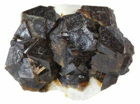 "1.7"" Garnet Cluster with Feldspar - Pakistan For Sale, #38723"