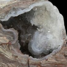 "Buy 3.3"" Crystal Filled Dugway Geode (Polished Half) - #38857"