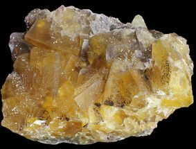 "9.6"" Yellow, Cubic Fluorite Cluster - Cave-in-Rock, Illinois For Sale, #38993"