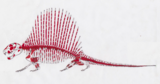 """Zoli"" 6 Foot Mounted Dimetrodon Milleri - Texas Red Beds - #39044-9"