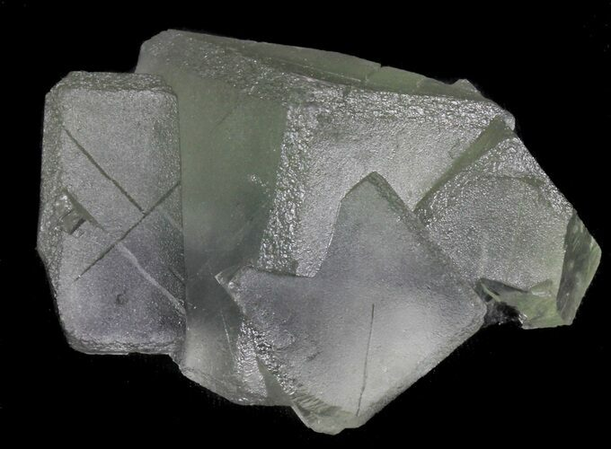 "2.8"" Cubic, Green Fluorite From China - Large Cubes"