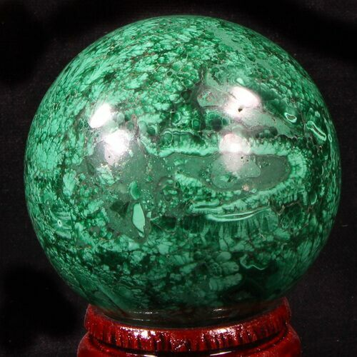 "Gorgeous, 2.45"" Polished Malachite Sphere - Congo"