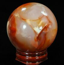 "2.15"" Colorful Carnelian Agate Sphere For Sale, #41204"