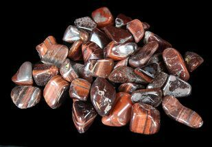 Buy Bulk Polished Red Tiger Eye - 8oz. (~ 25pc.) - #41746