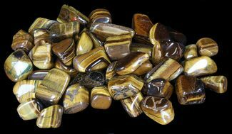 Bulk Polished Tiger Eye - 8oz. (~ 25pc.) For Sale, #41747