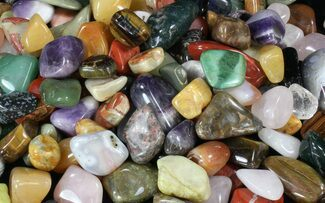 Buy Bulk Mixed Polished Minerals - 16 ounces (~ 30pc.) - #41857