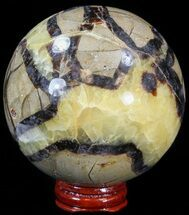 "Buy 3.35"" Polished Septarian Sphere - With Stand - #43852"