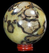"Buy 3.7"" Polished Septarian Sphere - With Stand - #43864"