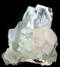 "Buy 2.1"" Zoned Apophyllite Crystal Cluster with Stilbite - India - #44440"
