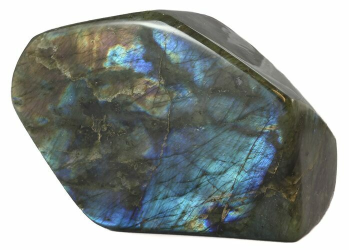 "6.5"" Flashy Polished Free Form Labradorite"