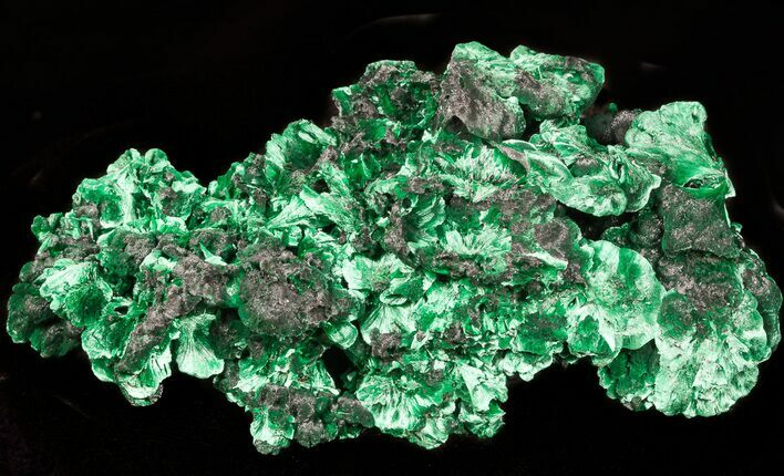 "4.3"" Silky Fibrous Malachite Crystal Cluster - Congo"