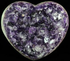 "4.5"" Purple Amethyst Crystal Heart - Uruguay For Sale, #46208"