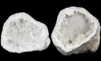 "5.9"" Keokuk Geode with Large Calcite Crystal - Missouri For Sale, #47108"