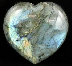 "Buy 3.7"" Flashy Polished Labradorite Heart - #47245"