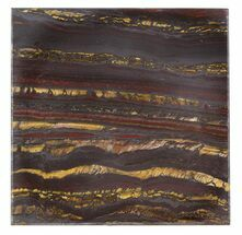 "Buy 4"" Tiger Iron Stromatolite ""Shower Tile"" - 2.7 Billion Years Old - #48787"